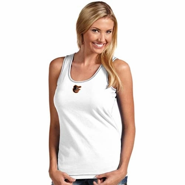 Baltimore Orioles Womens Sport Tank Top (Color: White)