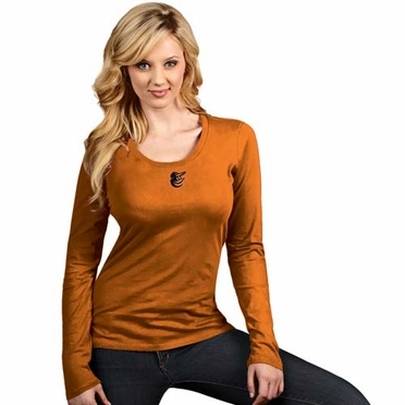 Baltimore Orioles Womens Relax Long Sleeve Tee (Team Color: Orange)