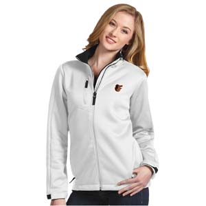 Baltimore Orioles Womens Traverse Jacket (Color: White) - Large