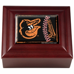 Baltimore Orioles Wooden Keepsake Box