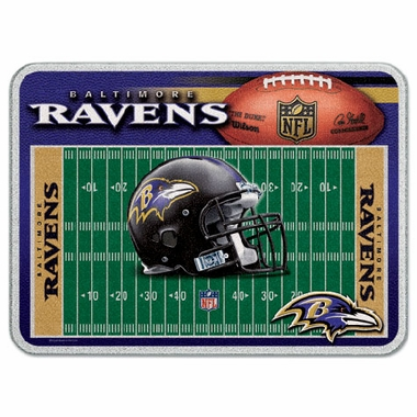 Baltimore Ravens 11 x 15 Glass Cutting Board