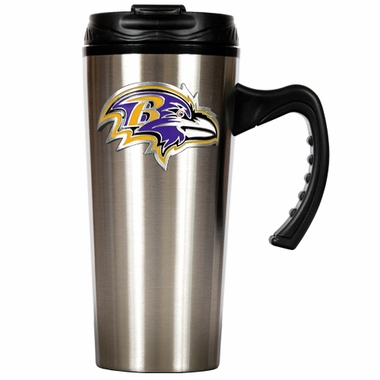 Baltimore Ravens 16 oz. Thermo Travel Tumbler (Slim)