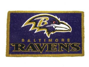 Baltimore Ravens 18x30 Bleached Welcome Mat
