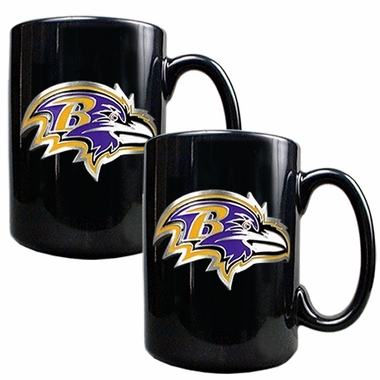 Baltimore Ravens 2 Piece Coffee Mug Set