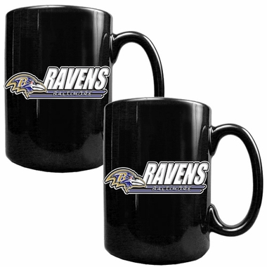 Baltimore Ravens 2 Piece Coffee Mug Set (Wordmark)