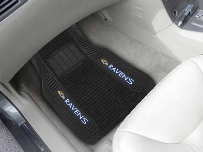 Baltimore Ravens 2 Piece Heavy Duty DELUXE Vinyl Car Mats