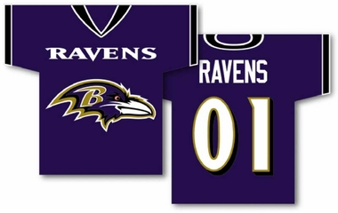Baltimore Ravens 2 Sided Jersey Banner Flag (F)