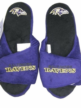 Baltimore Ravens 2011 Open Toe Hard Sole Slippers