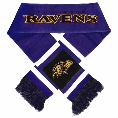 Baltimore Ravens 2012 Team Stripe Knit Scarf