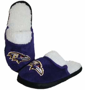 Baltimore Ravens 2012 Womens Team Color Sherpa Slippers