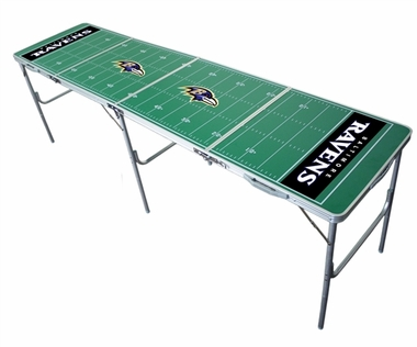 Baltimore Ravens 2x8 Tailgate Table