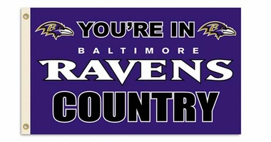 Baltimore Ravens 3' x 5' Flag (Country) (F)