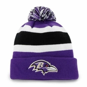 Men's Baltimore Ravens '47 Brand Purple Breakaway Cuffed Beanie