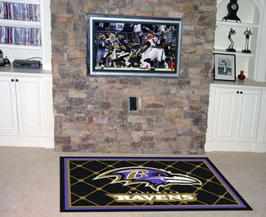 Baltimore Ravens 5 Foot x 8 Foot Rug