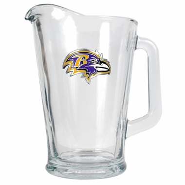 Baltimore Ravens 60 oz Glass Pitcher