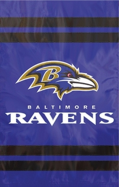 Baltimore Ravens Applique Banner Flag