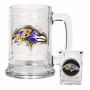 Baltimore Ravens Boilermaker Set