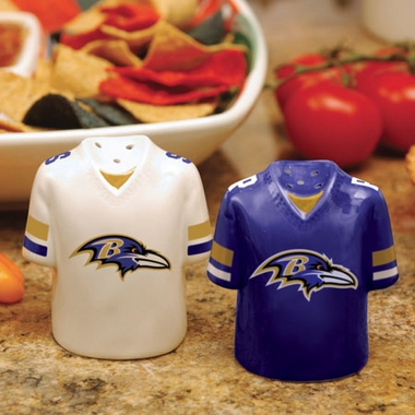 Baltimore Ravens Ceramic Jersey Salt and Pepper Shakers