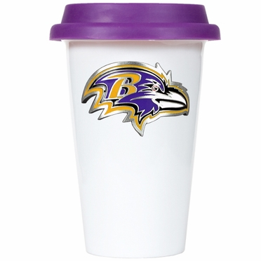 Baltimore Ravens Ceramic Travel Cup (Team Color Lid)