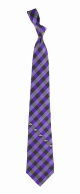 Baltimore Ravens Check Poly Necktie