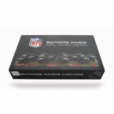 Baltimore Ravens Checkers Set