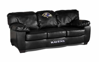 Baltimore Ravens Leather Classic Sofa