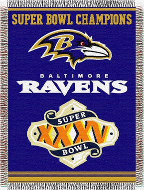Baltimore Ravens Commerative Jacquard Woven Blanket
