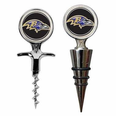 Baltimore Ravens Corkscrew and Stopper Gift Set