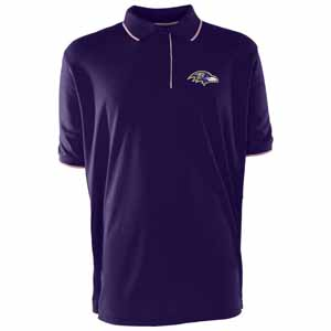 Baltimore Ravens Mens Elite Polo Shirt (Color: Purple) - Large
