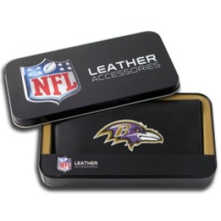Baltimore Ravens Embroidered Leather Checkbook Cover