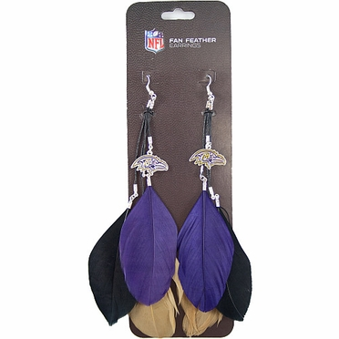 Baltimore Ravens Feather Earrings