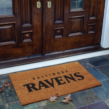 Baltimore Ravens Flocked Coir Doormat