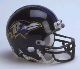 Baltimore Ravens Replica Mini Helmet w/ Z2B Face Mask