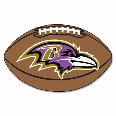 Baltimore Ravens Football Shaped Rug