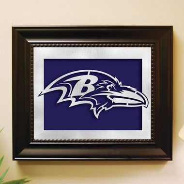 Baltimore Ravens Framed Laser Cut Metal Wall Art