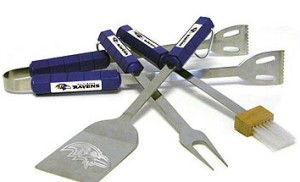 Baltimore Ravens Grill BBQ Utensil Set