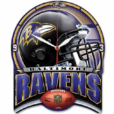 Baltimore Ravens High Definition Wall Clock