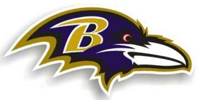"Baltimore Ravens 12"" Right Logo Car Magnet"