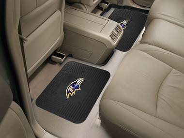 Baltimore Ravens SET OF 2 Heavy Duty Vinyl Rear Car Mats