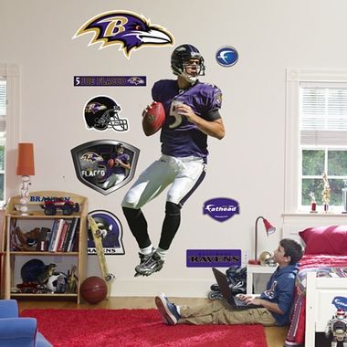 Baltimore Ravens Joe Flacco Fathead Wall Graphic