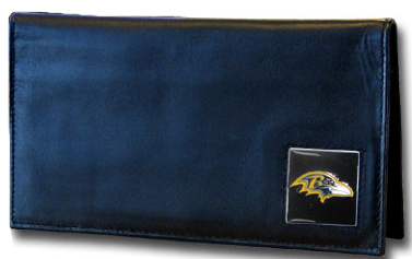 Baltimore Ravens Leather Checkbook Cover (F)