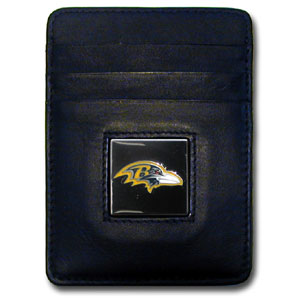 Baltimore Ravens Leather Money Clip (F)