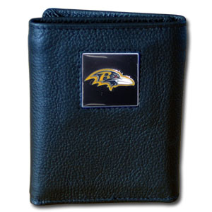 Baltimore Ravens Leather Trifold Wallet (F)