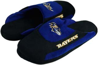 Baltimore Ravens Low Pro Scuff Slippers - Large