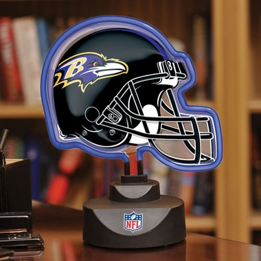 Baltimore Ravens Neon Display Helmet