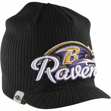 Baltimore Ravens New Era NFL Retro Viza Visor Knit Hat