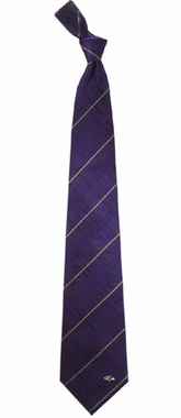 Baltimore Ravens Oxford Stripe Woven Silk Necktie