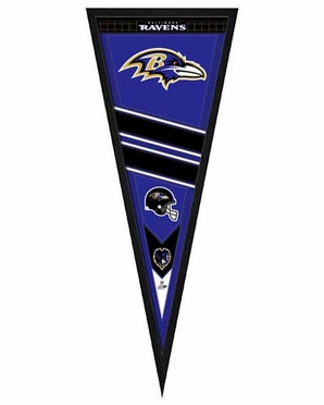 "Baltimore Ravens Pennant Frame - 13""x33"" (No Glass)"