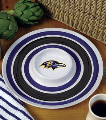 Baltimore Ravens Plastic Chip and Dip Plate