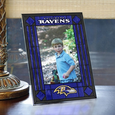 Baltimore Ravens Portrait Art Glass Picture Frame
